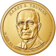 "USA 2015 $1 Presidentti Harry S. Truman ""D"" UNC"