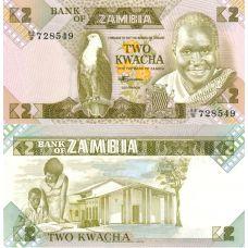 Sambia 1980-88 2 Kwacha P-24c UNC