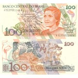 Brasilia 1989 100 Cruzados Novos P220a UNC