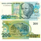 Brasilia 1990 200 Cruzeiros P229 UNC