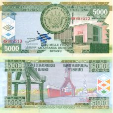 Burundi 2008 5 000 Francs P48 UNC