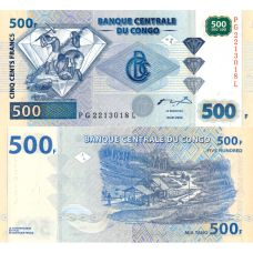Kongo 2002 500 Francs P96 UNC