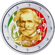 Italia 2013 2 € Giuseppe Verdi VÄRITETTY