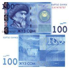 Kirgisia 2009 100 Som P26 UNC