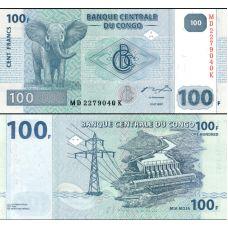 Kongo 2007 100 Francs P98 UNC