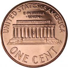 """USA 2008 $0,01 Lincoln Memorial """"P"""" UNC"""