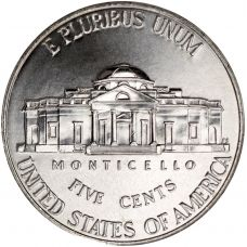 "USA 2010 $0,05 Jefferson - Monticello ""D"" UNC"