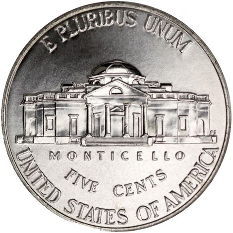 "USA 2010 $0,05 Jefferson - Monticello ""D"" UNC"