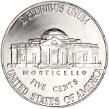 "USA 2016 $0,05 Jefferson - Monticello ""D"" UNC"