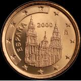Espanja 2000 1 c UNC