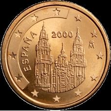 Espanja 2000 2 c UNC