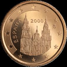 Espanja 2000 5 c UNC