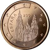 Espanja 2002 5 c UNC
