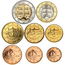 Slovakia 2010 1 c – 2 € Irtokolikot BU
