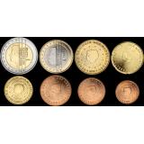 Alankomaat 2004 1 c - 2 € Irtokolikot UNC