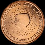 Alankomaat 2000 1 c UNC