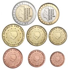 Alankomaat 2005 1 c - 2 € Irtokolikot UNC