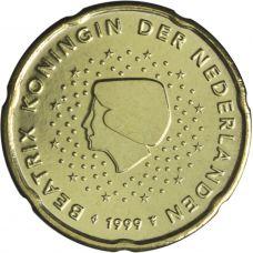 Alankomaat 1999 20 c UNC