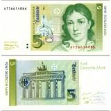 Saksa 1991 5 Deutsche Mark P37 UNC