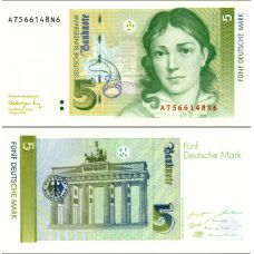 Saksa 1991 5 Deutsche Mark P37 UNC