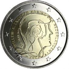 Alankomaat 2013 2 € Kuningaskunta 200 vuotta - Willem-Alexander I UNC