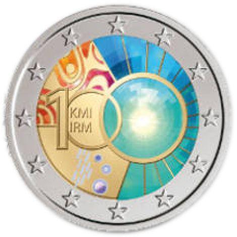 Belgia 2013 2 € Meteorologian instituutti 100 vuotta VÄRITETTY