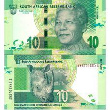 Etelä-Afrikka 2012 10 Rand P133 UNC