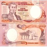 Kolumbia 1983 100 Pesos Oro P426a UNC