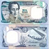 Kolumbia 1995 1000 Pesos Oro P438 UNC