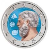 Kreikka 2013 2 € Platonin Akatemia VÄRITETTY
