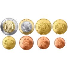 Latvia 2014 1 c – 2 € Irtokolikot UNC