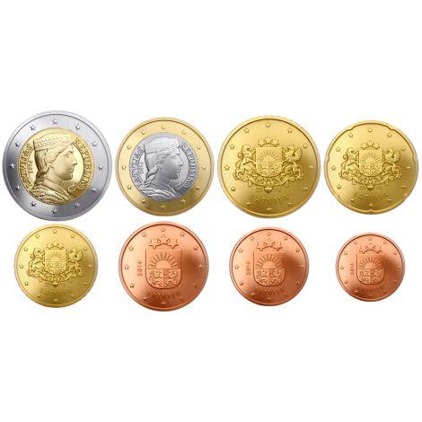 Latvia 2019 1 c - 2 € Irtokolikot BU