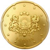 Latvia 2014 20 c UNC