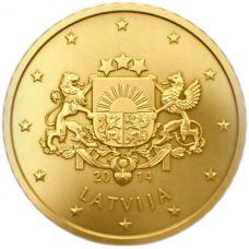 Latvia 2014 50 c UNC