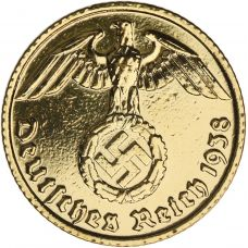 Saksa 1937-1939 10 Reichspfennig KULLATTU