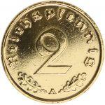 Saksa 1937-1939 2 Reichspfennig KULLATTU