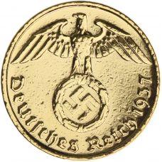 Saksa 1937-1939 5 Reichspfennig KULLATTU