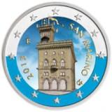San Marino 2013 2 € VÄRITETTY