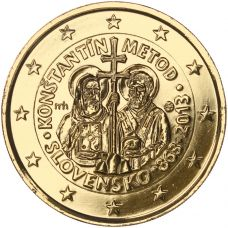 Slovakia 2013 2 € Kyrillos ja Metodios KULLATTU