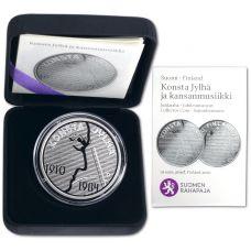 Suomi 2010 10 € Konsta Jylhä ja kansanmusiikki HOPEA PROOF