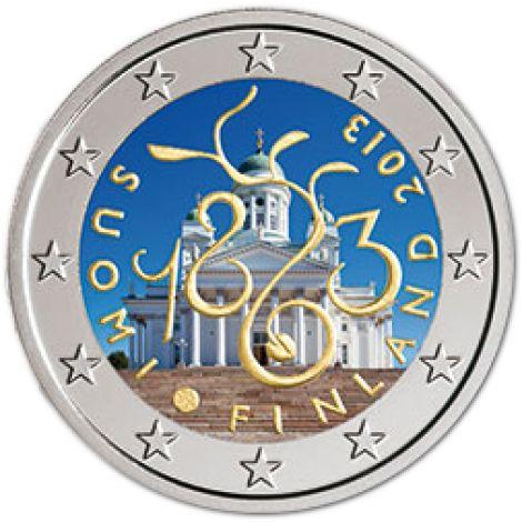 Suomi 2013 2 € Vuoden 1863 valtiopäivät 150 vuotta VÄRITETTY