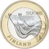 Suomi 2013 5 € Maakuntien rakennukset Karjala - Imatrankoski UNC