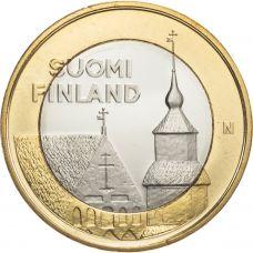 Suomi 2013 5 € Maakuntien rakennukset Häme - Pyhän Laurin kirkko UNC