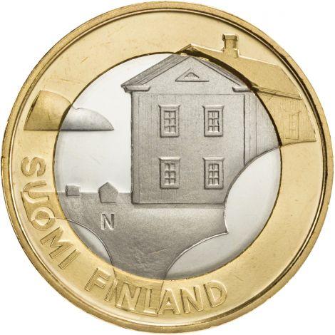 Suomi 2013 5 € Maakuntien rakennukset Pohjanmaa - Pohjalainen talo UNC