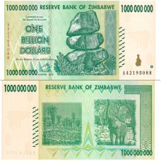 Zimbabwe 2008 1 Billion Dollars P83 UNC