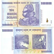 Zimbabwe 2008 10 Billion Dollars P85 UNC