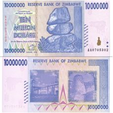 Zimbabwe 2008 10 Million Dollars P78 UNC