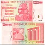 Zimbabwe 2008 100 Million Dollars P80 UNC