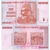 Zimbabwe 2008 5 Billion Dollars P84 UNC