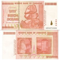 Zimbabwe 2008 50 Billion Dollars P87 UNC